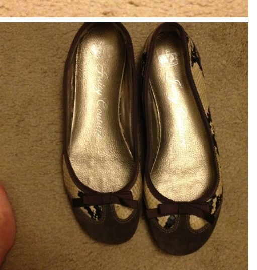 Juicy Couture Couture Couture Brown and Snake Ballet Flats 068e5e