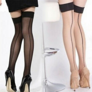 Sexy-Women-Seamed-Back-Line-Tights-Stockings-Fashion-over-knee-Stockings-PLCA