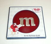 Red - Hand Painted Glass M&m Candy Window Hanger Hanging Decor Ornament Mm Mars