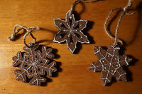 Set Of 3 Gingerbread Cookie Bakery Baker Christmas Tree Ornaments Home Decor
