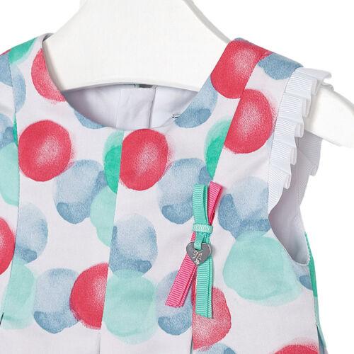 Mayoral buntes Punkte-Kleid aus Baumwollsatin