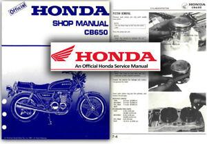 honda cb650 service workshop repair shop manual cb 650 factory ebay rh ebay co uk 88 NT650 1991 NT650