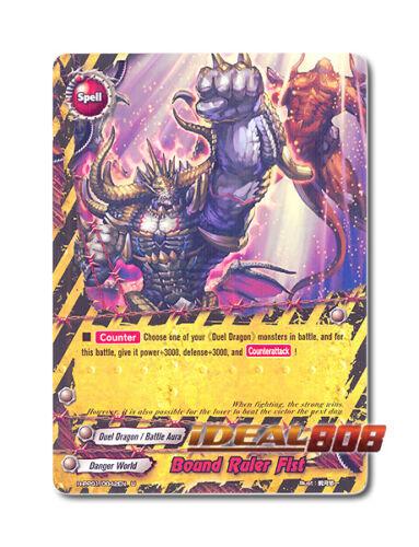 Buddyfight x 4 Bound Ruler Fist H-PP01//0042EN U English Mint Future Card