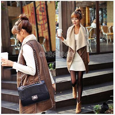 Fashion Women Sleeveless Waistcoat Vest Faux Fur Ladies Warm Coat Jacket Outwear