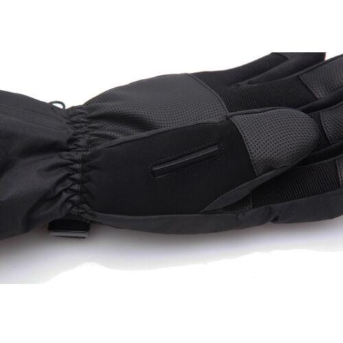 Men Black Waterproof Thinsulate Ski Snowboard Gloves Winter Warm Gloves S,M,L XL