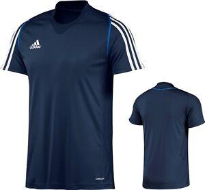 adidas-Maenner-Sport-T-Shirt-blau-Trainingshirt-Laushirt-Gr-XS-S-M-L-XXL