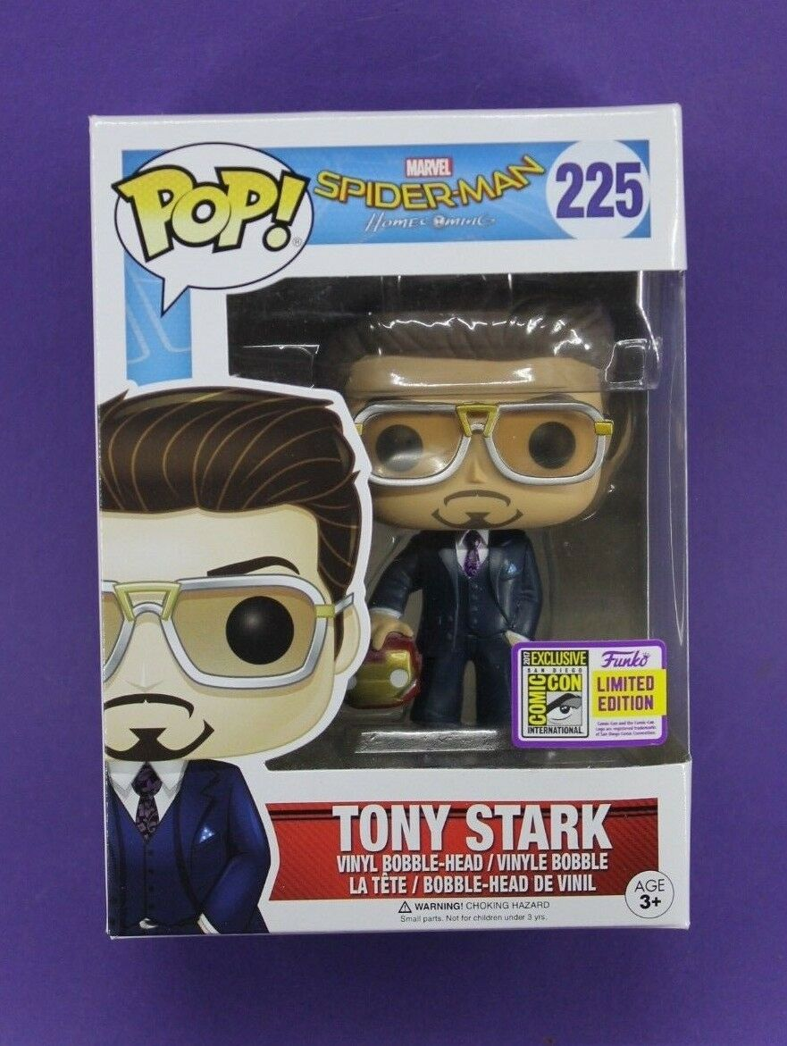 FUNKO POP MARVEL SPIDER-MAN HOMECOMING  225 TONY STARK (SDCC 2017) VINYL
