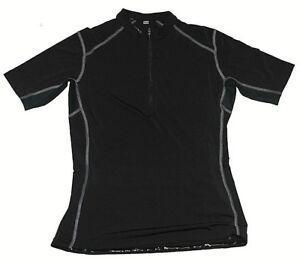 5b52a9675 Womens Club Ride Raven Black UPF 20 Half Zip Cycling Jersey Sz Small ...