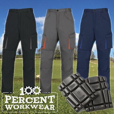 Delta Plus Mach2 Polycotton Mens Cargo Work Trousers Pants Knee Pad Pockets New Zur Verbesserung Der Durchblutung
