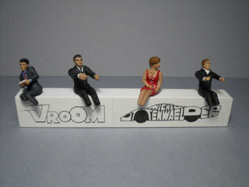 4  FIGURINES 1//43  SET 2  CONDUCTEURS   CAR  DRIVERS  VROOM  UNPAINTED  FIGURES