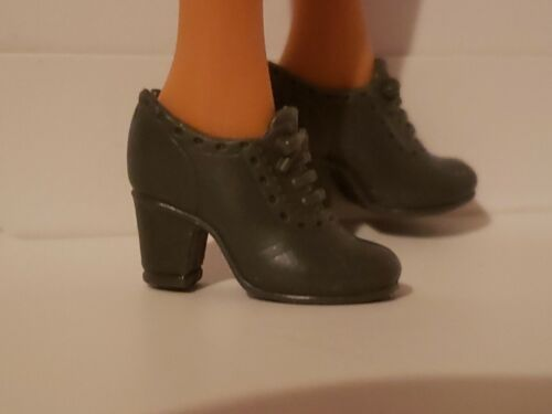 NEW BARBIE DOLL DARK GREY  SHOES