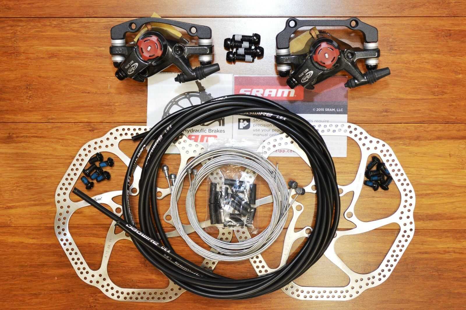Avid BB7 F&R Disc Brake  + 2PC HS1 redors + OEM Jagwire Kit --- For Mountain Bike  the best selection of