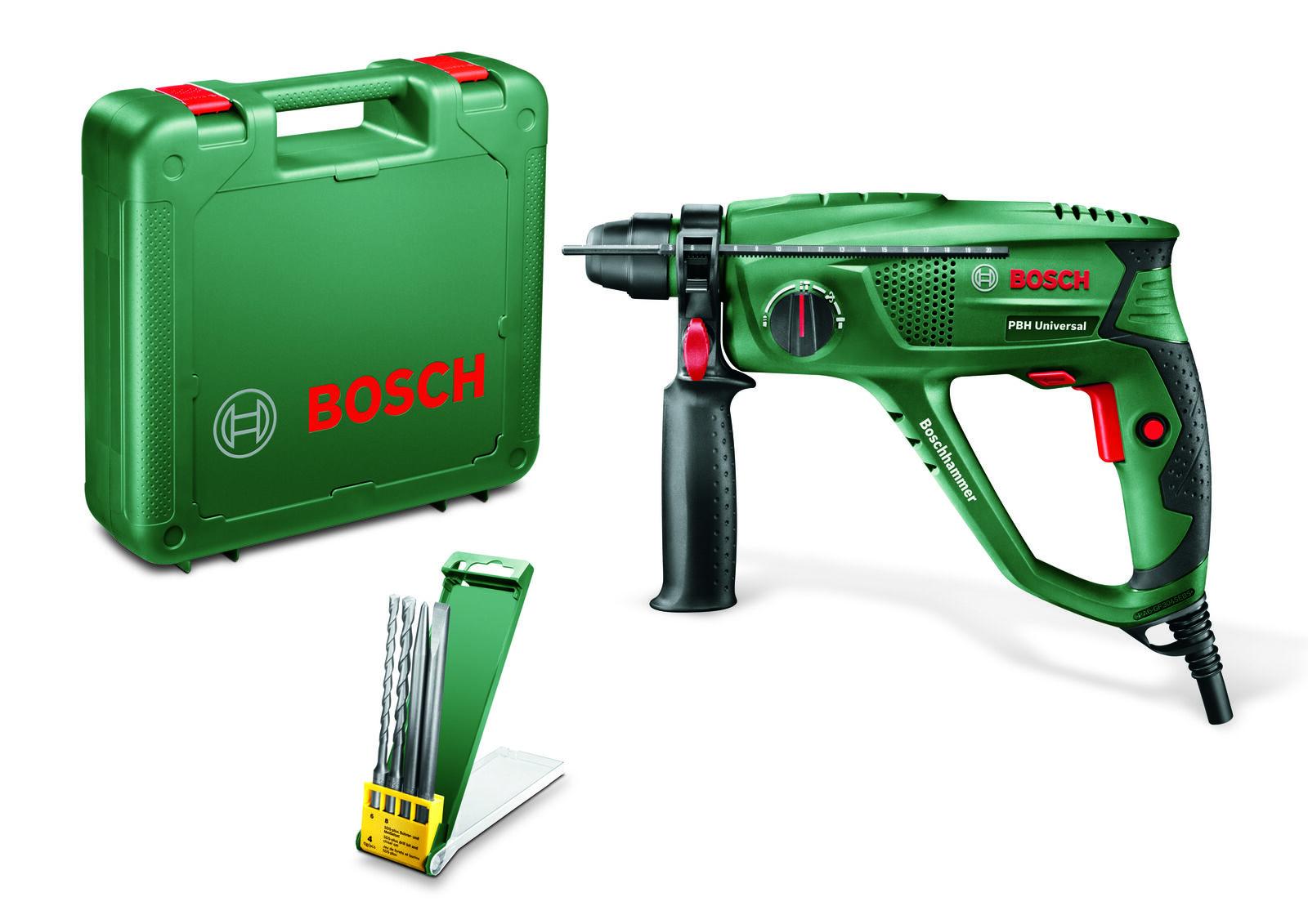 Bosch Bohrhammer PBH Universal - inkl. 2 Meißel und 2 Bohrer