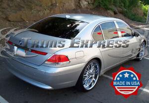 2002-2008-BMW-7-Series-Sedan-6Pc-Chrome-Pillar-Post-Trim-Stainless-Steel