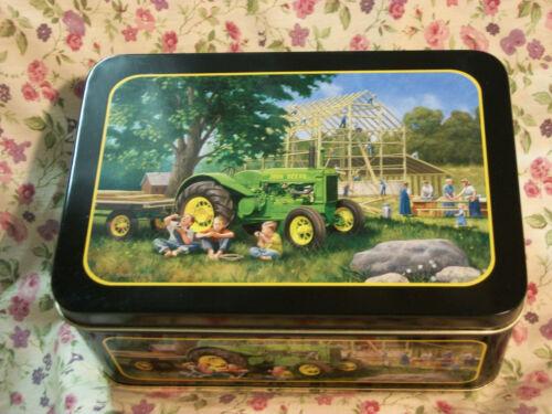 NEW JOHN DEERE TIN WITH CHILDREN BOX