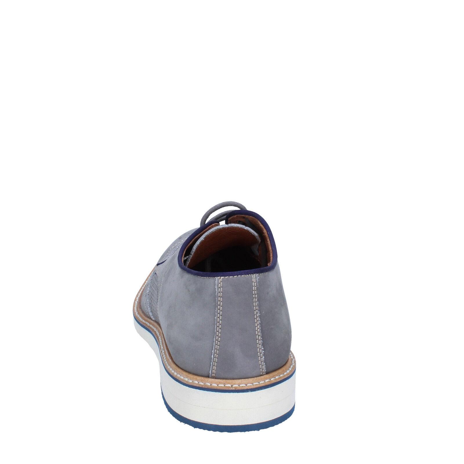 Herren schuhe schuhe schuhe +2 MADE IN ITALY 44 EU elegante grau nabuk BT702-44  aa64a6