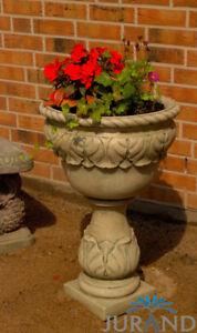 IngéNieux Pierre Pot De Fleurs Romain Pot Plantes Jardinière Bac Pot De Fleurs 2044-afficher Le Titre D'origine à Tout Prix