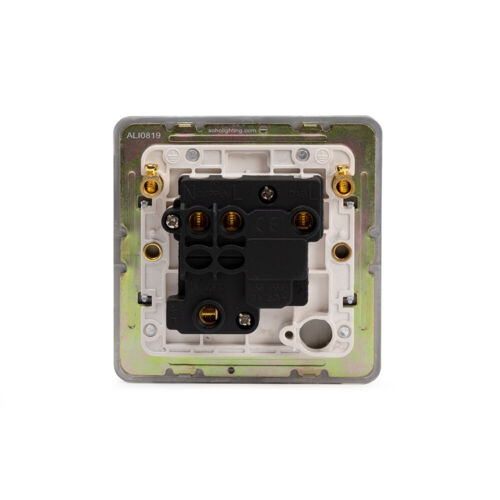 Soho Lighting White Metal Flat Plate 13A Switched Fuse Connection Unit Wht In...