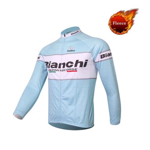 À Manches Longues Homme jerseys pour le cyclisme Veste Rembourré Collants Vélo Thermique Respirant