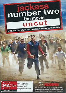 Jackass-Number-Two-The-Movie-Uncut-Comedy-Adventure-NEW-DVD