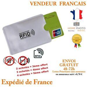 Etui Anti-Piratage Protection RFID//NFC Carte Crédit Paiement sans Contact FR