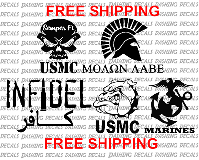 5 USMC MARINE MILITARY ARMY USA UNITED STATES AIR FORCE Decal Sticker Car