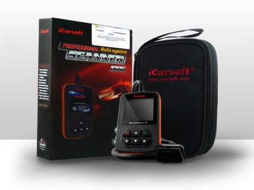 Original iCarsoft i906 OBD Tiefen-Diagnose Motor Getriebe ABS Airbag für Volvo