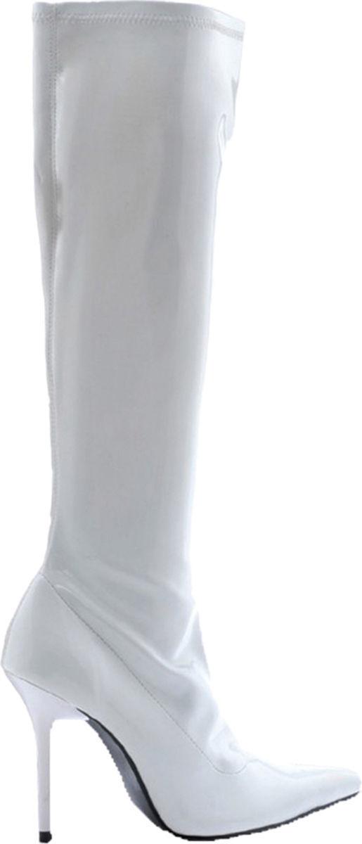 Morris Costumes Women's Emma Knee Length Pull On Ankle Boots White 11. HA131WT11