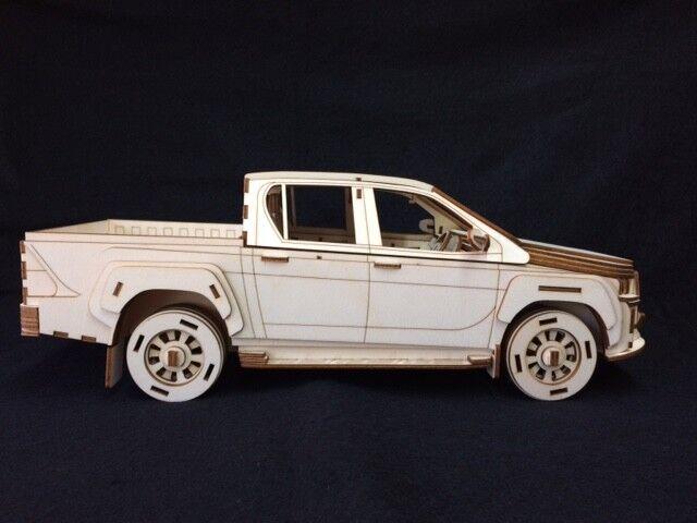 Laser Cut Wooden Toyota Hilux 3D Model Puzzle Kit