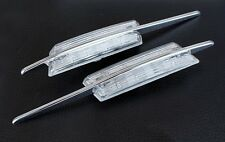 BMW E39 5-Series M/M5 LED Clear Chrome Side Indicator Repeater Signal Light Lamp