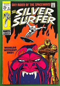 Silver-Surfer-6-Worlds-Without-End-Buscema-1969-FN-1st-Print-Marvel-Comics