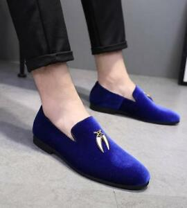 9202d587c47 Stylish Men s Velvet Loafers Wedding Dress Formal Shoes HOT Sale ...