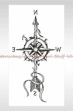 "US SELLER-arrow compass 8.25"" temporary tattoo cheap fake tattoos"