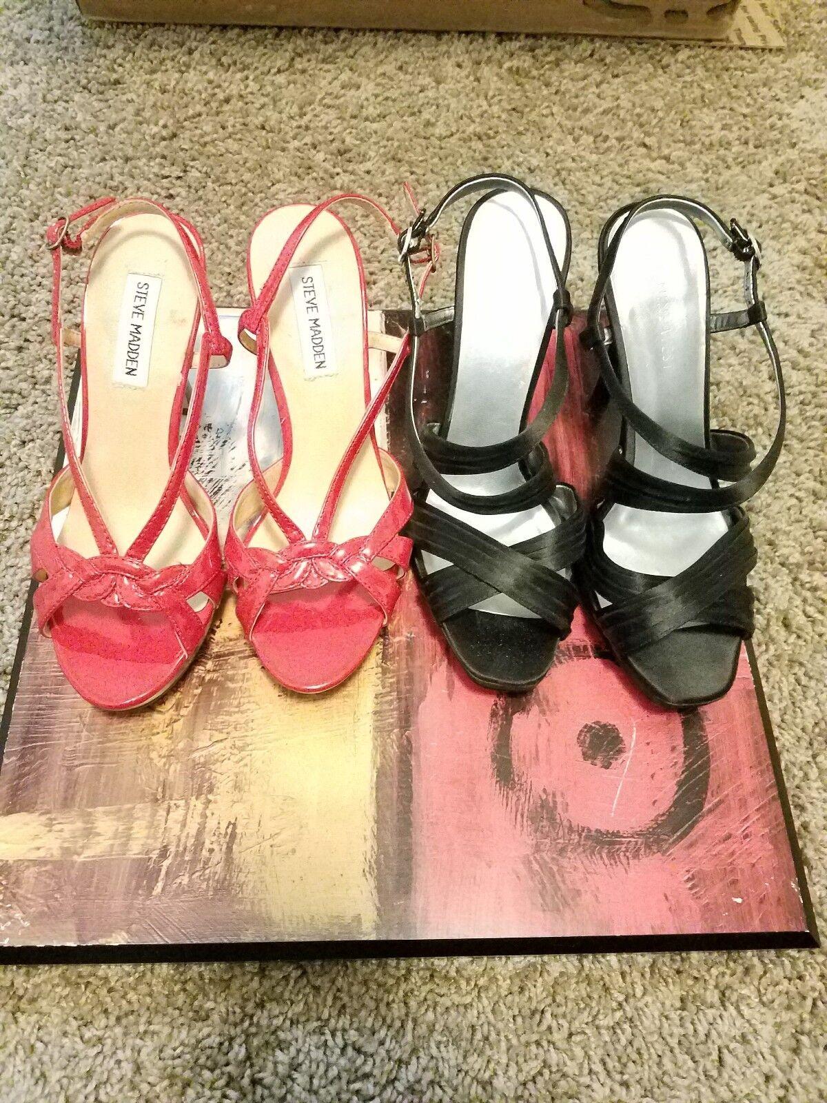 Women 2 designer nine west steve madden shoes size  6.5