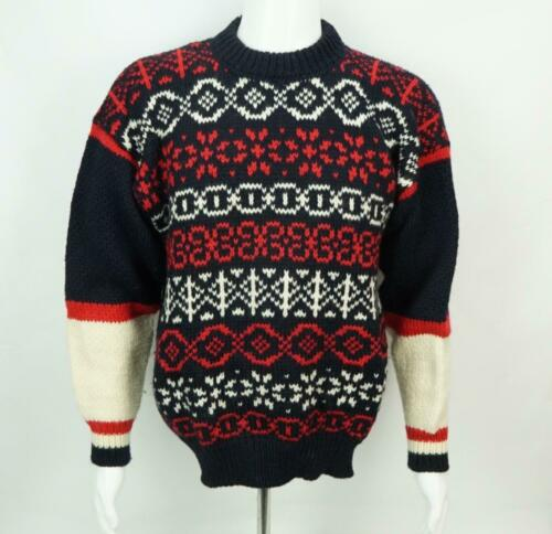 Vintage Strawberry Jungle Mens Sweater Large100% I