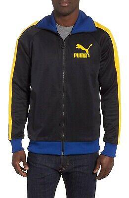 b2d219d3 Puma Men's Black Spetra/Yellow Sodalite Blue T7 Vintage Full Zip Track  Jacket | eBay