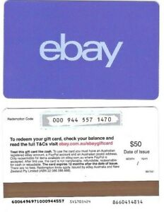 dirt cheap timeless design classic style Details about FOR COLLECTION ONLY – 1 x USED AUD$50 Australia ebay gift  card BLUE, NO VALUE $0