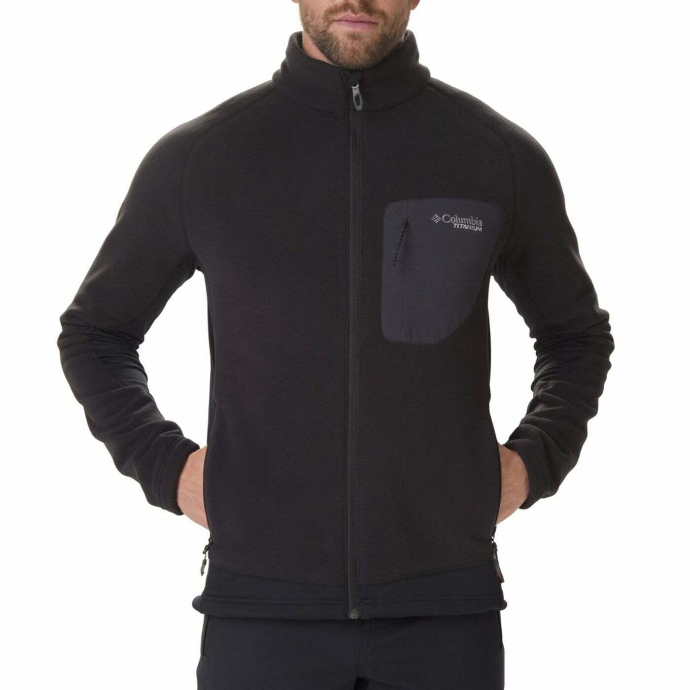 Columbia Titan Pass 2.0 II Veste Homme Polaire Noir Toutes Tailles