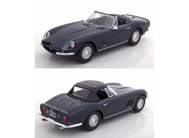 Ferrari 275 gts 4 Nuts Spyder alloy rims 1967 darkbleu 1 18 Model KK Scale