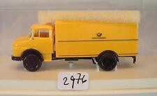 Brekina 1/87 4704 Mercedes Benz 322 LKW Koffer Deutsche Bundespost OVP #2976