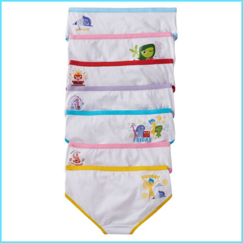 Inside Out Underwear Undies Briefs Girls Panties x 7 Disney Inside Out Hipsters