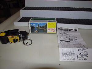Vintage Micro 110 Palm Sized Spy Camera w/ Box, Key Chain & Instructions