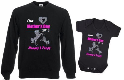 La nostra prima Festa Della Mamma Mummia Unicorno mumicorn BABY UNICORNO Personalizzato Glitter