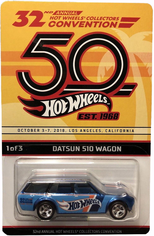 2018 Conv Datsun 510 Vagón Hot Wheels Hw convención de 2018 Serie