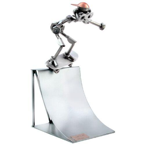 Skateboard Miniramp Schraubenmännchen Skulptur Stahlmännchen Figuren Geschenke