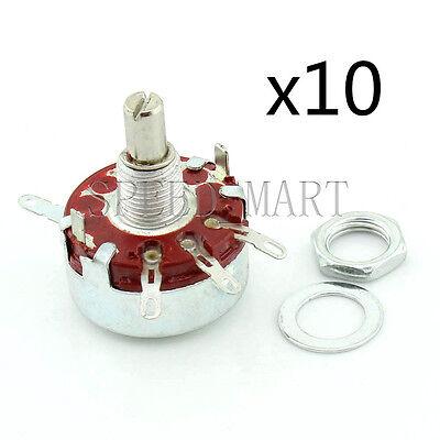 WTH118-1A 2W Ohm 6mm Round Shaft Linear Taper Rotary Potentiometer Pot 1K 330K