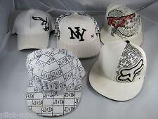LOT OF 5  BASEBALL CAPS ~ FOX (L/XL), DC (7 5/8), FX (S/M), NY(L) AND AE (L/XL)
