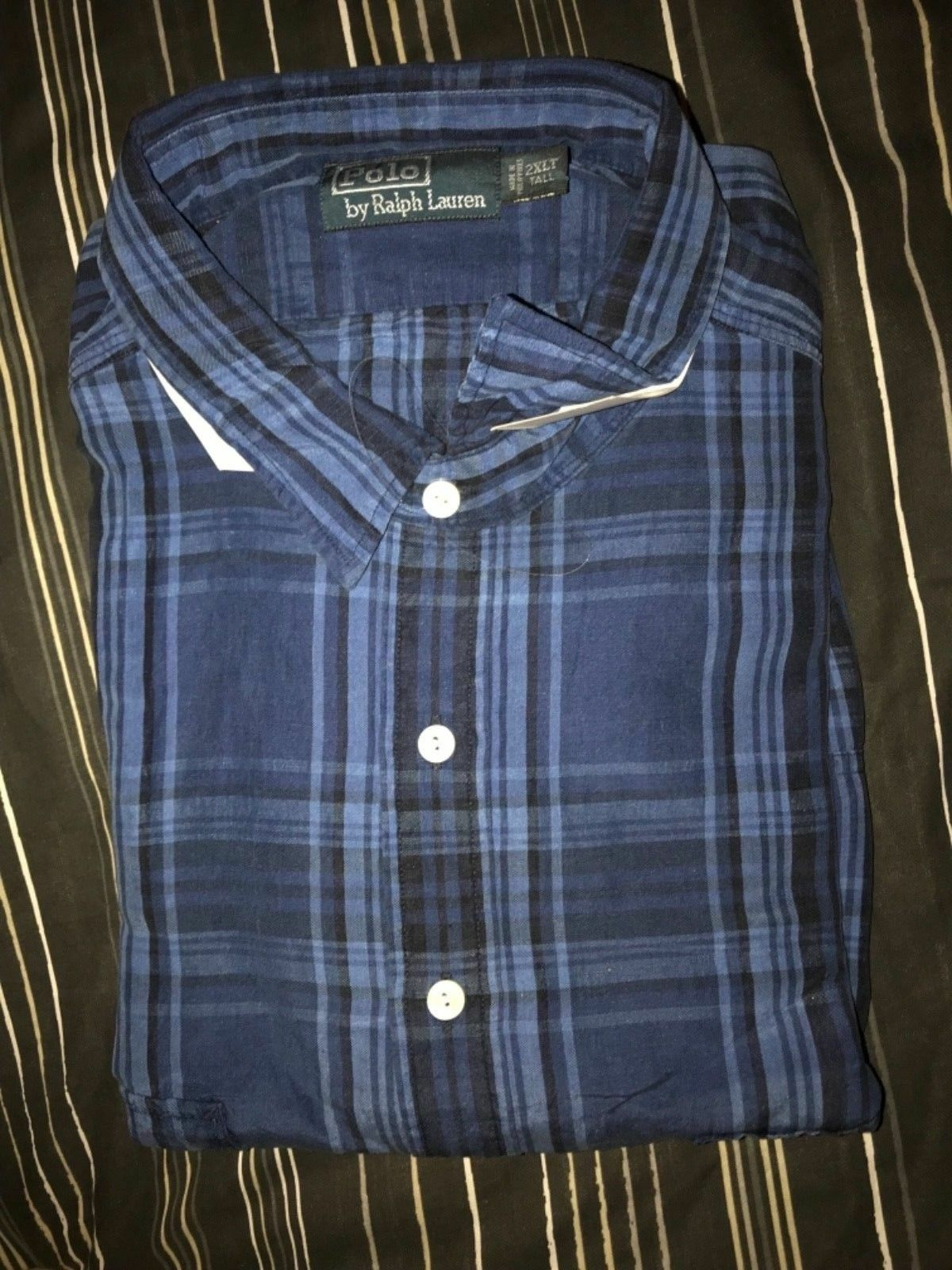 Ralph Lauren  blu Shirt Pony Small Pony Shirt 4XLT 4X Tall c7c161