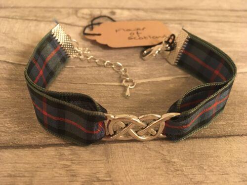 with Double Infinity Charm Bracelet in tartan Flower of Scotland