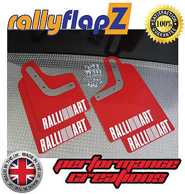 RALLY ANTERIORE MITSUBISHI L200 ROSSO 4mm PVC Parafanghi Ralliart Logo Bianco 05 />